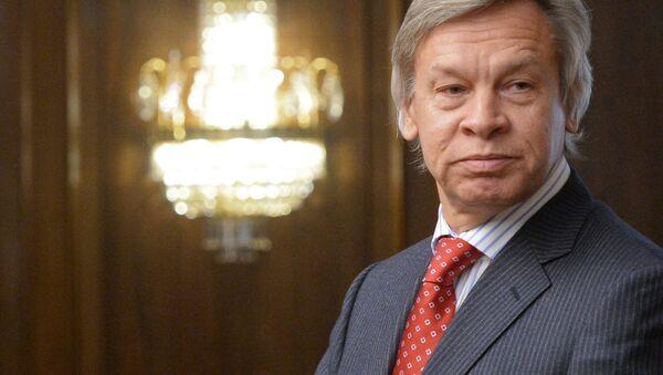 Krievijas Valsts domes deputāts Aleksejs Puškovs. Foto no arhīva - Sputnik Latvija