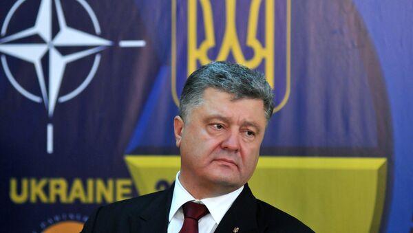 Президент Украины Петр Порошенк - Sputnik Latvija