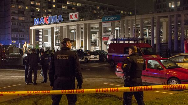 Обрушение крыши торгового центра в Риге - Sputnik Latvija