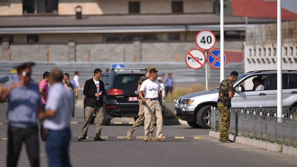 Ситуация на месте взрыва в Бишкеке, Киргизия - Sputnik Latvija