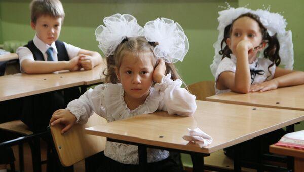 Начало учебного года в школах России - Sputnik Latvija
