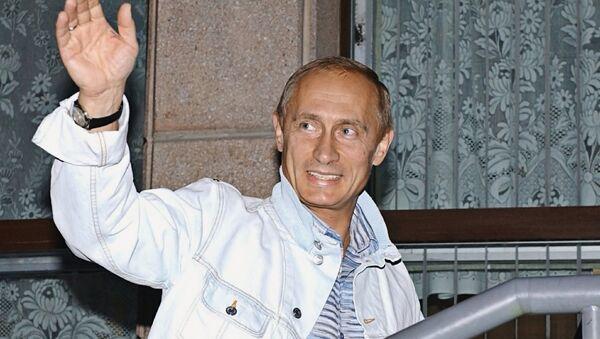 Владимир Путин в горнолыжном комплексе в Белокурихе на Алтае - Sputnik Латвия