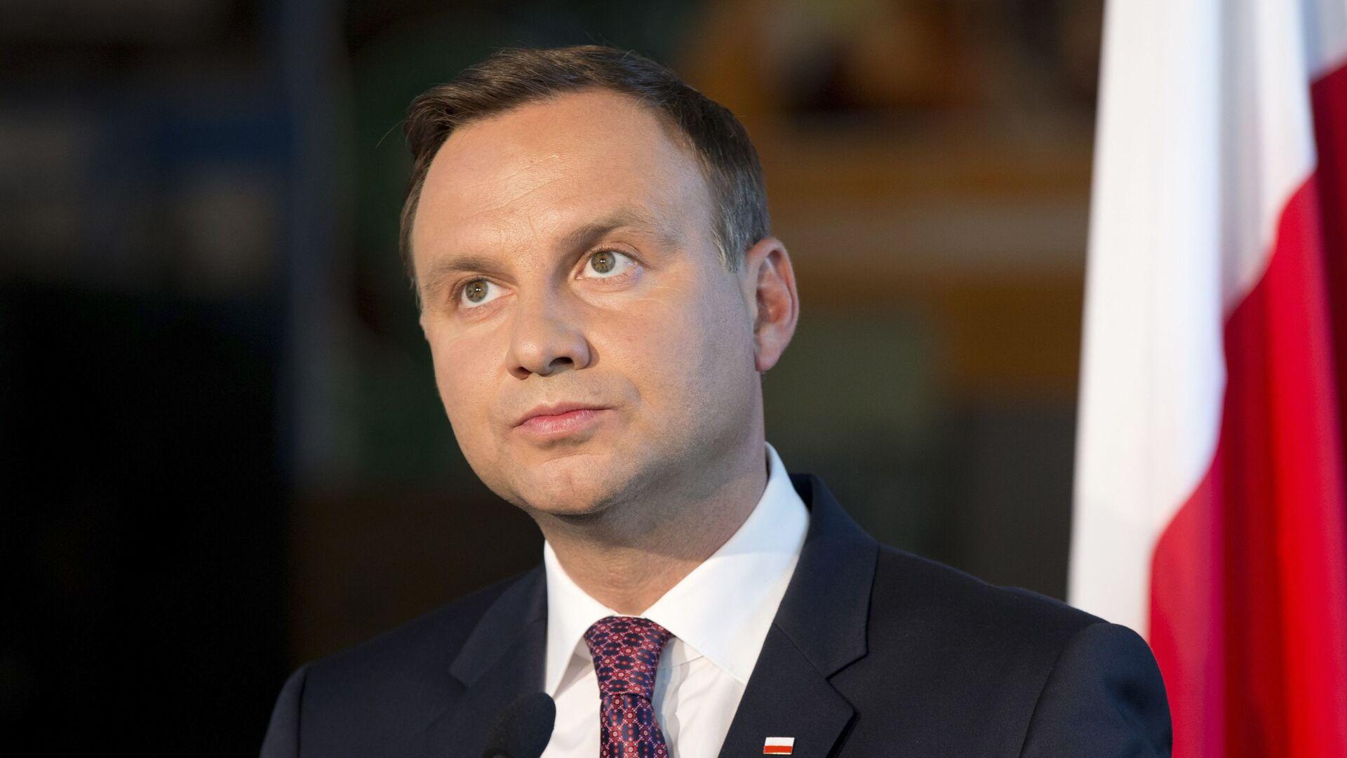Президент Польши Анджей Дуда - Sputnik Латвия, 1920, 02.09.2021