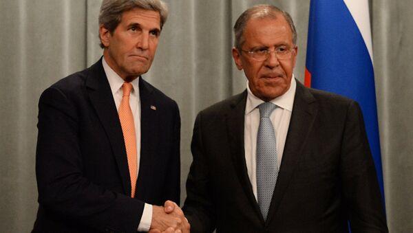 Встреча главы МИД РФ С. Лаврова с Госсекретарем США Дж.Керри - Sputnik Latvija