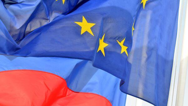Флаги России и ЕС - Sputnik Латвия