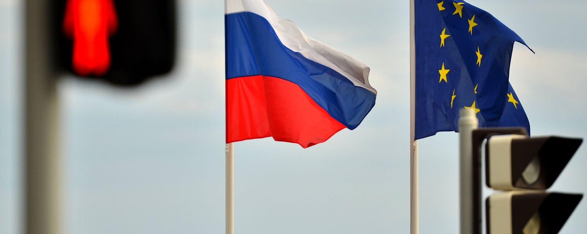 Флаги России и ЕС - Sputnik Latvija, 1920, 17.05.2021