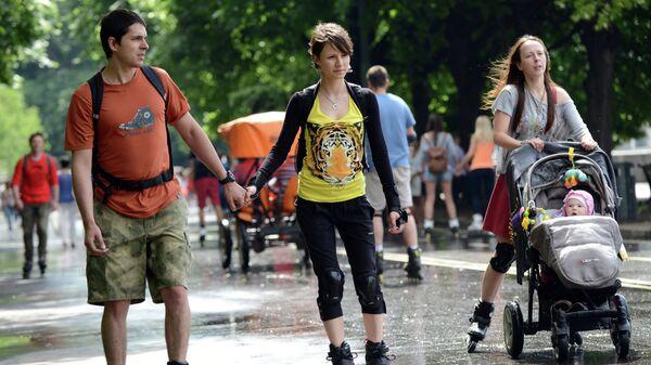 Городской праздник Москва Велосипедная в ЦПКиО им.Горького - Sputnik Латвия