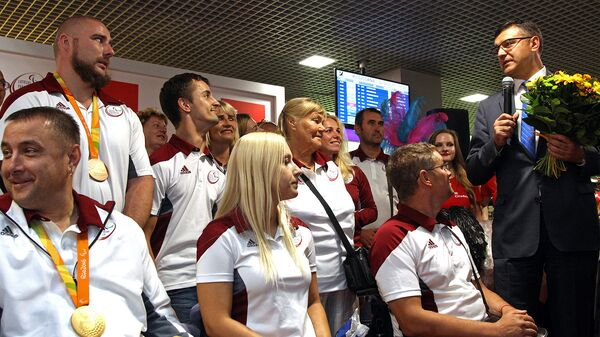 Возвращение паралимпийцев из Рио - Sputnik Латвия