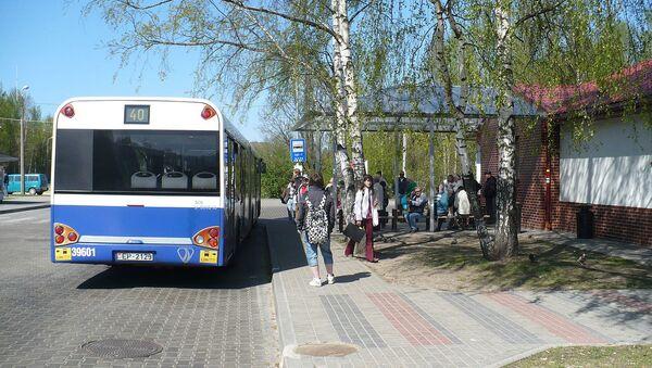 Югла. Автобусная остановка - Sputnik Latvija