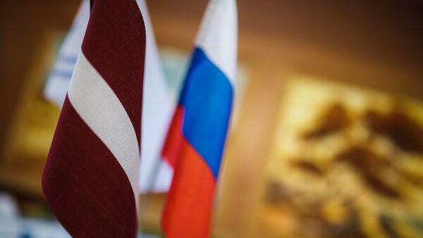 Флаги Латвии и России - Sputnik Латвия