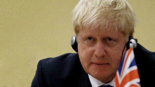 Министр иностранных дел Великобритании Борис Джонсон - Sputnik Латвия