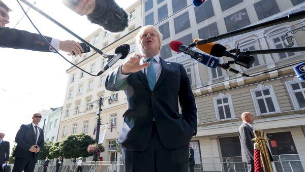 Lielbritānijas ārlietu ministrs Boriss Džonsons - Sputnik Latvija