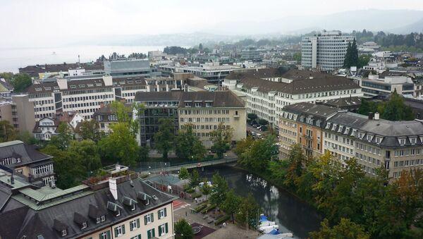 Šveices pilsētas Cīrihes ainava. Foto no arhīva - Sputnik Latvija