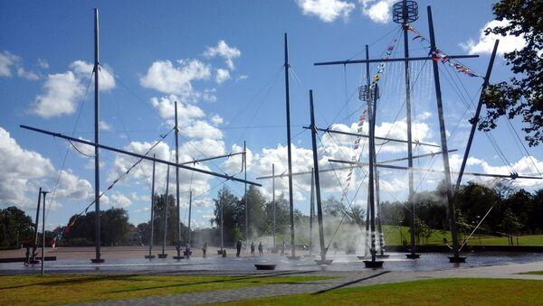 Фонтан Фрегат Кит, открытый в честь Праздника города в Вентспилсе - Sputnik Латвия