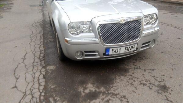 Автомобиль с эстонскими номерами - Sputnik Латвия