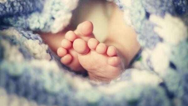 Ножки новорожденного - Sputnik Латвия
