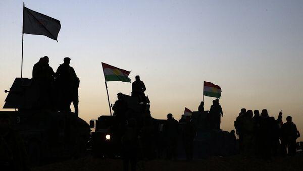 Иракские военные и Курдские силы начинают операцию на юге и востоке Мосула - Sputnik Латвия