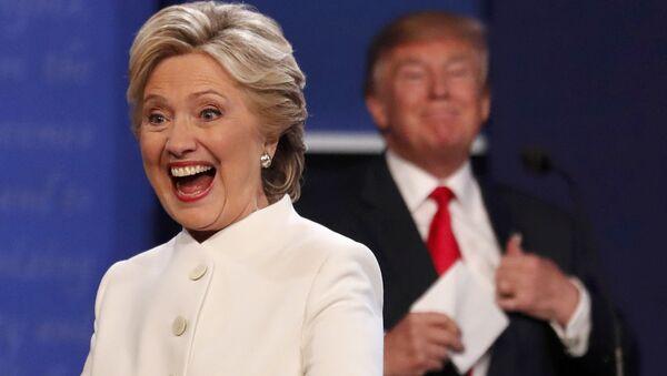 Финальные дебаты между кандидатами в президенты США Дональдом Трампом и Хилари Клинтон - Sputnik Latvija