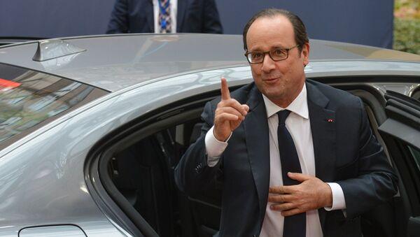 Президент Франции Франсуа Олланд - Sputnik Latvija