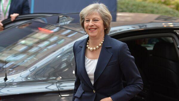 Премьер-министр Великобритании Тереза Мэй - Sputnik Латвия