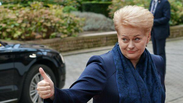 Президент Литвы Даля Грибаускайте - Sputnik Латвия