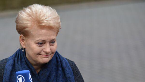 Президент Литвы Даля Грибаускайте - Sputnik Latvija