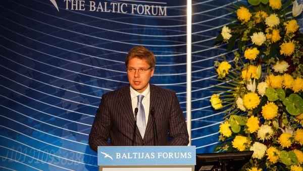 Председатель Рижской думы Нил Ушаков на открытии Балтийского форума - Sputnik Латвия