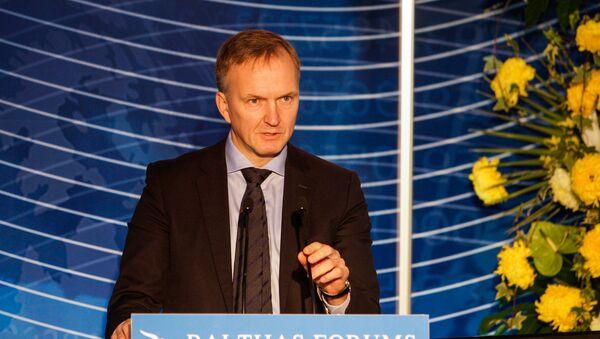 Госсекретарь Министерства иностранных дел Андрейс Пилдеговичс во время выступления на Балтийском форуме - Sputnik Латвия