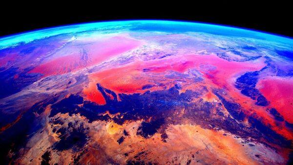 Zemes uzņēmums no kosmosa, izdarīts no SKS. Tā autors - astronauts Skots Kellijs - Sputnik Latvija