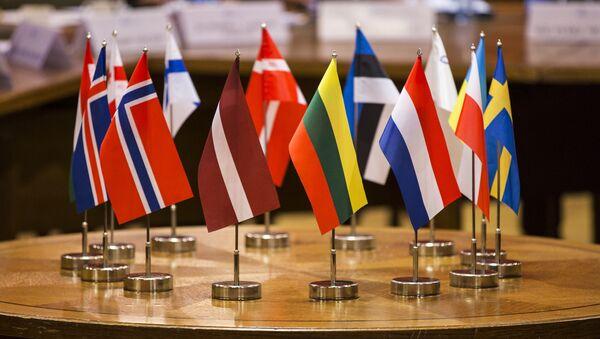 Флаги стран участниц Балтийской ассамблеи - Sputnik Latvija
