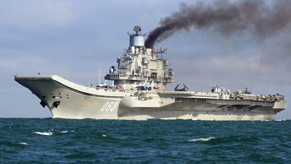 Тяжёлый авианесущий крейсер Адмирал Флота Советского Союза Кузнецов - Sputnik Latvija