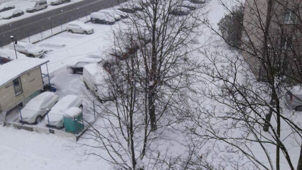 Sniegputenis Rīgā. Arēnas Rīga rajons - Sputnik Latvija