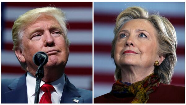 Кандидаты в президенты Дональд Трамп и Хиллари Клинтон - Sputnik Латвия