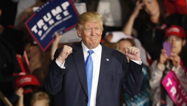 Jaunievēlētais ASV prezidents Donalds Tramps - Sputnik Latvija