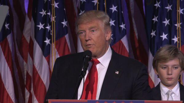 Первая речь избранного президента США Дональда Трампа после победы на выборах - Sputnik Латвия