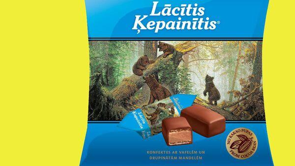 Упаковка латвийских конфет Мишка косолапый - Sputnik Латвия