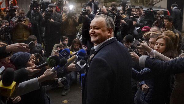 Moldovas prezidents Igors Dodons - Sputnik Latvija