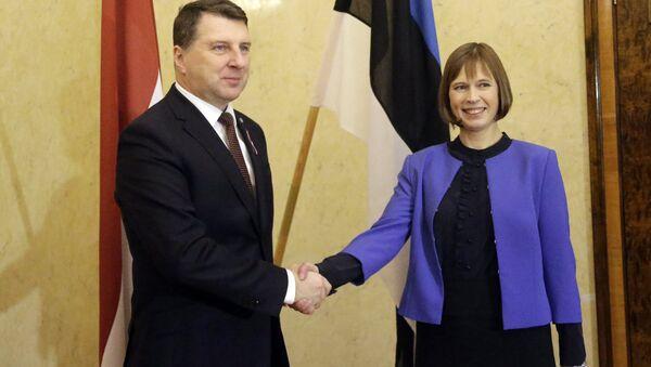 Встреча президента Латвии Раймондса Вейониса с президентом Эстонии Керсти Кальюлайд - Sputnik Latvija