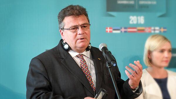 Министр иностранных дел Литвы Линас Линкявичюс - Sputnik Латвия
