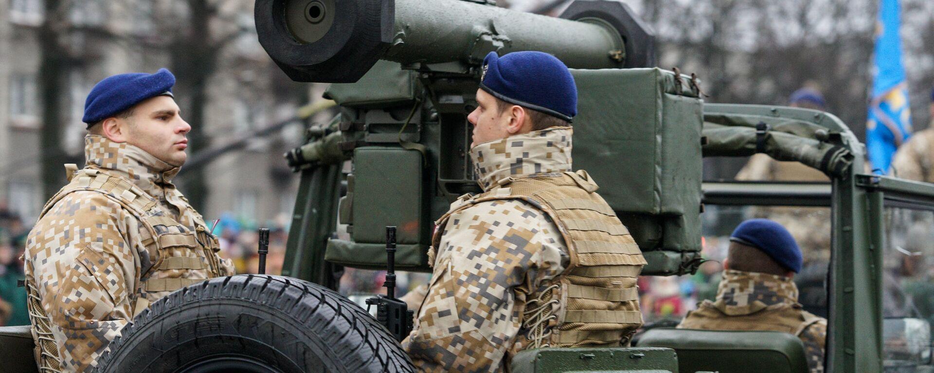 Военный парад посвящённый 98-й годовщины провозглашения Латвийской Республики - Sputnik Латвия, 1920, 22.01.2021