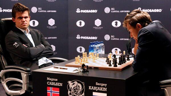 Шахматы матч за звание чемпиона мира 2016. М.Карлсен vs С.Карякин - Sputnik Латвия