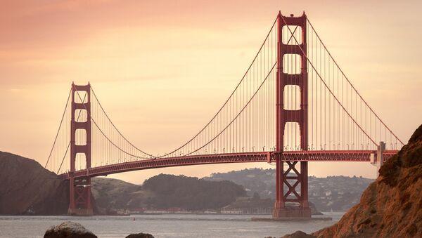 Калифорния Сан-Франциско мост Золотые ворота - Sputnik Latvija
