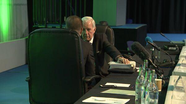 Неформальный разговор руководителей WADA по поводу России. Съемка RT - Sputnik Латвия