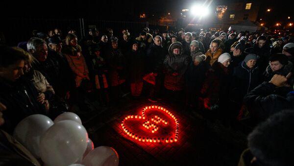 Вечер памяти погибших при обрушении крыши супермаркета в Золитуде, 21 ноября 2016 года - Sputnik Латвия