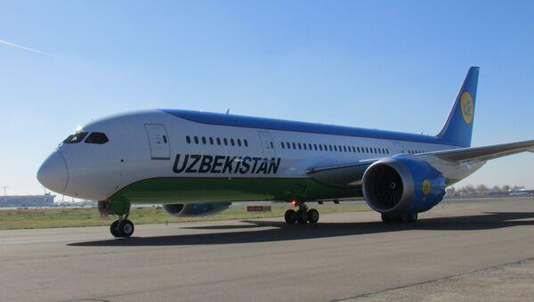 Узбекские авиалинии приняли в эксплуатацию еще один самолет Boeing 787-8 Dreamliner - Sputnik Латвия