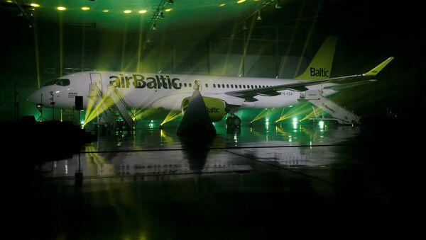 Презентация Bombardier CS300 для Латвийского национального авиаперевозчика airBaltic, архивное фото - Sputnik Латвия