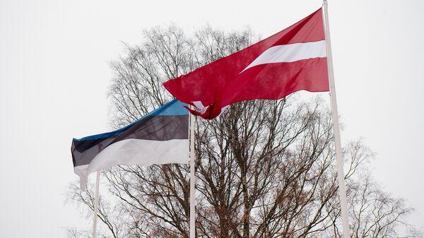 Флаги Латвии и Эстонии - Sputnik Латвия