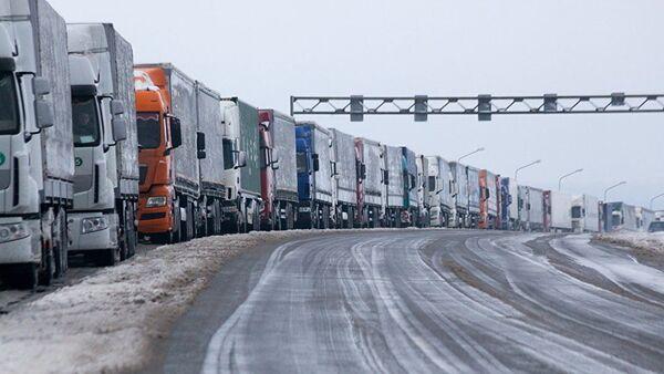 Очередь фур на белорусско-литовской границе - Sputnik Latvija
