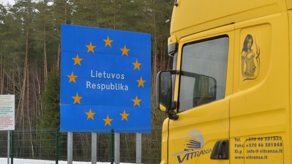 Фура на белорусско-литовской границе - Sputnik Латвия