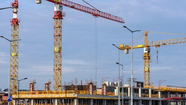Строительство, подъемные краны - Sputnik Латвия